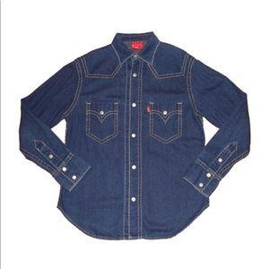 Levi's Indigo Button-Up Shirt